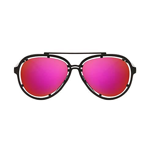 KUDICO Unisex Sonnenbrille Metallrahmen Verspiegelt Linse Pilotenbrille Getönt Reflektierende Spiegel Objektiv Aviator Brillen(H, One Size)