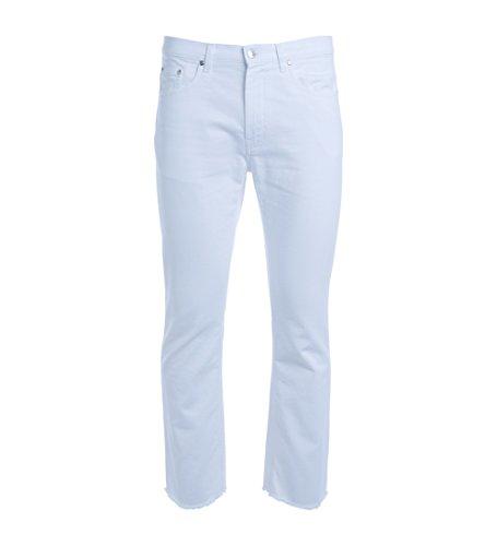 MSGM Jeans Weiss washed ausgefranst Weiß