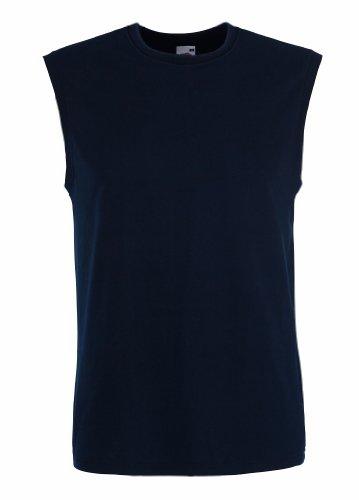 T-Shirt ohne Ärmel, Farbe:Deep Navy;Größe:XL XL,Deep Navy (Running Ärmel T-shirt)