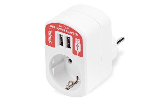 Ednet 31804 - Adaptador corriente con USB