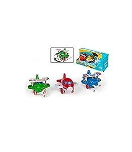 ColorBaby- Set 3 Aviones Metal fricción, (Color Baby 43586)