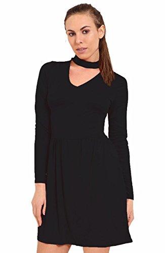 Generic - Robe - Manches Longues - Femme Noir