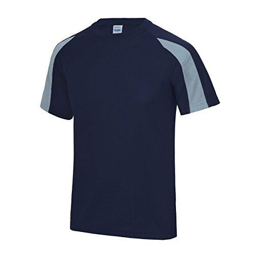AWDis Herren T-Shirt - Oxford Navy/ Sky Blue