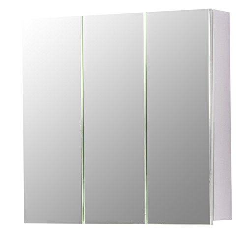 #trendteam TB40501 Badspiegelschrank Weiß, BxHxT 60x61x15 cm#