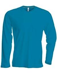 Kariban Langarm T-Shirt mit V-Ausschnitt K358,Farbe:Tropical Blue;Größe:L