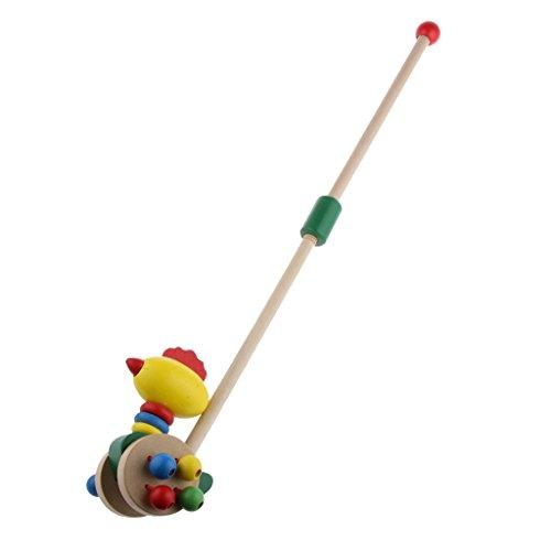 Nette Karikatur-Holz-Tierpuppe Trolley Kinder Kleinkind-Spielzeug Für Kinder Geschenk