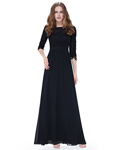 Ever Pretty Womens Elegant 3/4 Sleeve Lace Long Evening Dress 08412