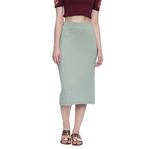 Chumbak Make Happy Grey Pencil Skirt - M