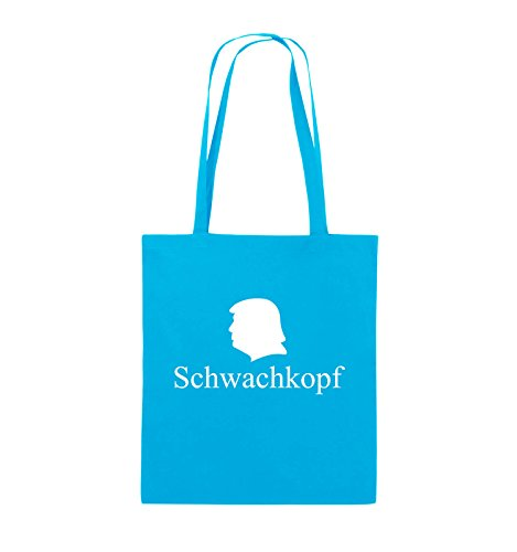 Henkel Schwarz Comedy lange Weiss Bags Farbe 38x42cm Schwachkopf Jutebeutel Pink TRUMP Hellblau xB8Xwr6B