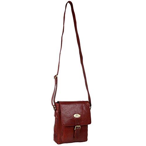 Damen Leder Cross-Body-Tasche Handtasche von Rowallan; RAZZANO Maroon Schulter (Damen Handtasche Maroon)
