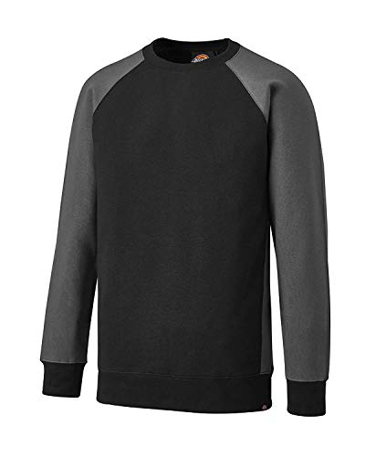 Dickies T-Shirt Two Tone SH2007, Größen, optimale Passform, Passend zur Everyday 24/7 Kollektion 2017 (Sweatshirt Schwarz, XL) -