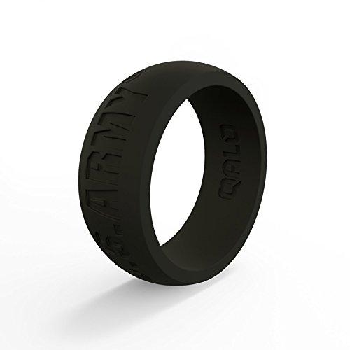 qalo silicone rings for men- safe wedding band anello di gomma, yoga, crossfit, palestra, sollevamento pesi, allenamento, esercizi, fitness, pompiere, poliziotto, in silicone di grado medicale
