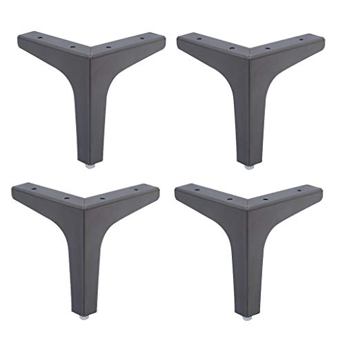 Furniture legs Edelstahlmöbel Beine Sofa Fuß Badschrank Couchtisch Stützbeine Tischbeine 4 Stück Silber Gold Schwarz