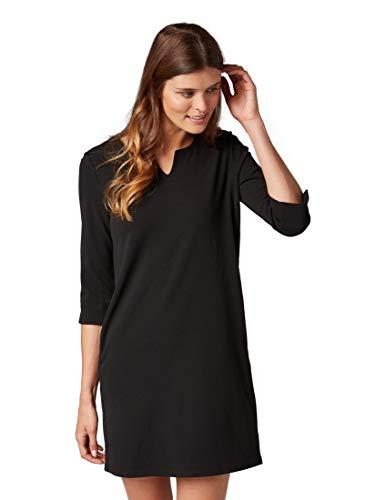 TOM TAILOR für Frauen Kleider & Jumpsuits Kleid mit 3/4 Arm Black, 38