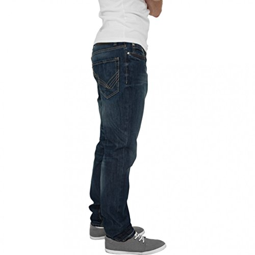 Urban Classics Straight Fit Jeans Black Coated Blue