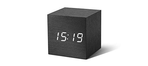 Alarm CLock Gingko GK08R4Uhr digitaler Würfel, LED weiß, schwarz