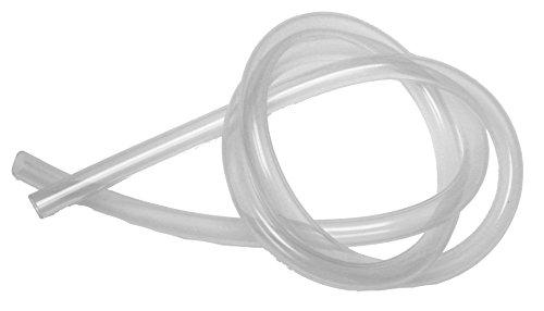 1m Schlauch für Entsafter, Innendurchmesser: 8mm, Außendurchmesser: 11mm, Silikon, transparent, lebensmittelecht, bis 200° temperaturbeständig, für Entsafter, Einkochautomat, Einkochtopf.
