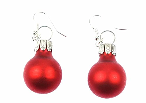 Weihnachtsbaumkugeln Ohrringe Miniblings Christbaumkugeln Weihnachten rot matt