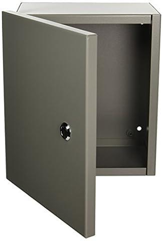Wiegmann N1C101206 N1C-Series NEMA 1 Small Hinged Cover Wallmount Cabinet,