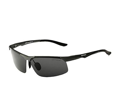 VEITHDIA Polarisierter Sport Sonnenbrille f¨¹r Herren und Damen Skifahren Golf Laufen Radsport Superleichtes Rahmen 6502-grey