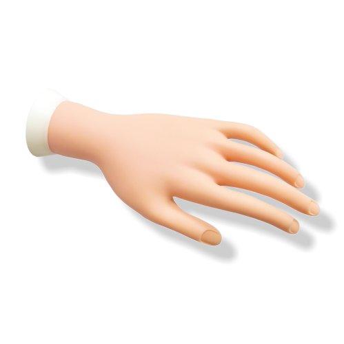 Übungshand mit beweglichen Fingern für Nagelmodellage & Nageldesign