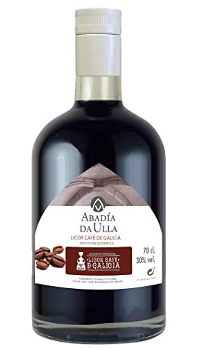 Licor Café Gallego Orujo casero. Aguardiente Galicia ABADIA DA ULLA 70cl