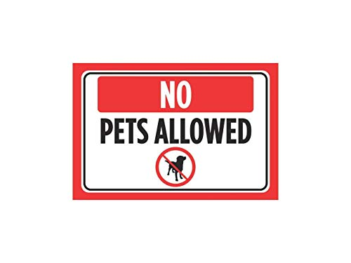 Fhdang Decor No Pets Allowed Red Black Bild Horizontal Fenster Business Office Store Front Poster Druck Kassierer Schild - Aluminium Schild, Metallschild, 30,5 x 45,7 cm (Kassierer-fenster)