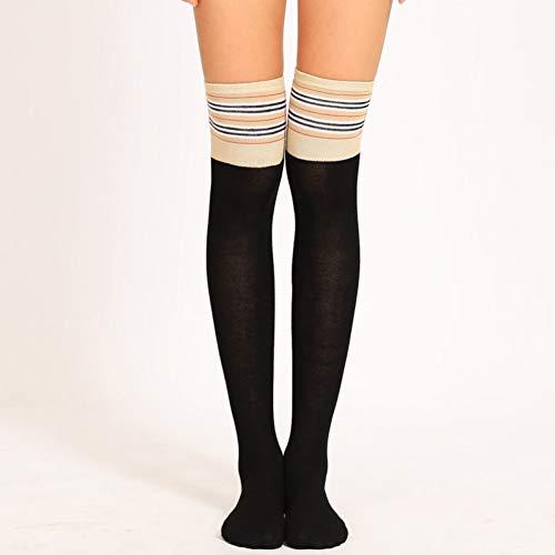 SUZNUO Oberschenkel hoch über dem Knie Socken Lange Twist Baumwollstrümpfe Frauen Winter wärmer Soft Knit Crochet Sock -
