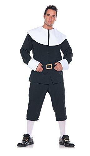 Herren Pilgrim Kostüm - Thanksgiving Pilgrim Man Costume Adult XX-Large