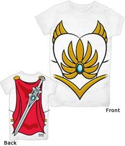 He-Man She-Ra Kostüm Weiß Damen T-Shirt (Large)