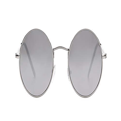 Sportbrillen, Angeln Golfbrille,Summer Retro Round Sunglasses Brand Designer Men Women NEW Vintage Circle Black Red Pink Lens Hippie Sun Glasses Shades 652 C6 mirror