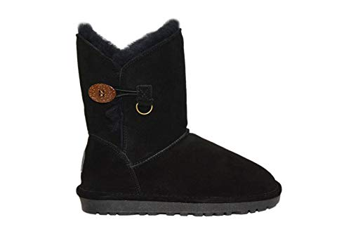 Reissner Lammfelle Lammfell Winterstiefel Lara Halbstiefel Schlupfstiefel Boots (Halbschaft) schwarz, Größe 37