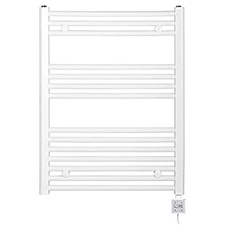 Anapont Electric Bathroom Heater Dimensions: 500x775 Electric Color: White KTX-3 Electro-Heating Cartridge Bath Towel Rail Radiator,