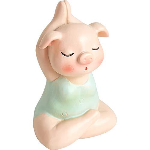 Nordische kreative Yoga Harz Schwein Ornament Serie Tier Home Dekoration Bücherregal einfache moderne Mädchen Herz Geschenk -