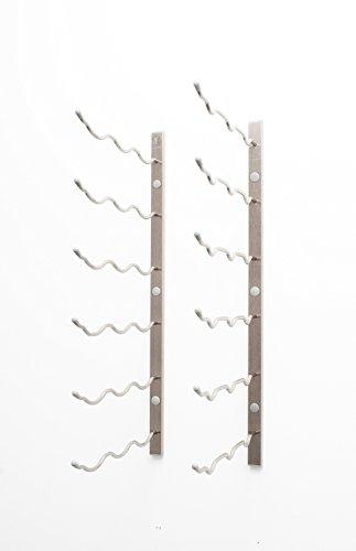 Serien Wand-möbel-system (VintageView Wand Serie 2Wand montiert Weinregal, Metall (610mm, 6–18Flaschen), stahl, gebürsteter nickel, 18 Bottles)