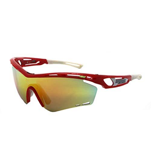 JAORUNNING Bunte Outdoor-Reitbrille Mountainbike Sportreitbrille Winddicht Sand Sonnenbrille