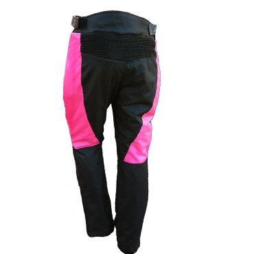 Bikers-Gear-UK-Pantaloni-da-donna-per-moto-con-protezioni-Modelo-Jazz-Nero-e-Rosa-SIZE-12-LEG-30