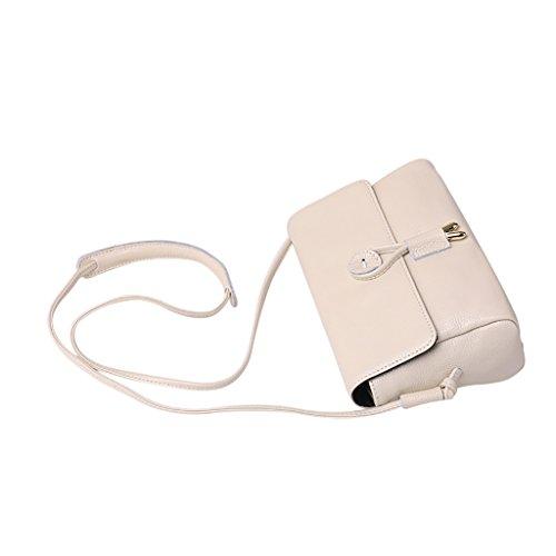 Mena UK Retro modello serpentino femminile Multicolor Genuine Leather Mini Maniglia di carico e scarico Maniche a tracolla Messenger Bag ( Colore : Lotus purple , dimensioni : 22cm*15cm*9cm ) Bianco