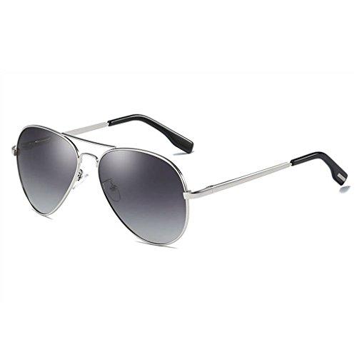 Providethebest Coolsir Unisex UV400 Schutz polarisierten Sonnenbrillen Brillen Metallrahmen Brillen Mode Brillen 4#