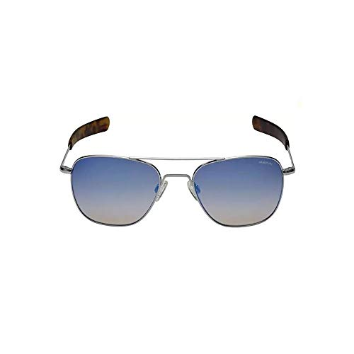 Randolph Sunglasses Aviator Matte Chrome Oasis Metallic 58 AF220 NEW