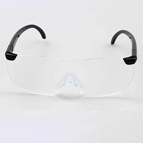 Tree-on-Life Big Vision 1.6X Lupenlesebrille Flammenlose, leichte Brillenlupe 250-Grad-Vision-Linse Kompatibel für ältere Menschen