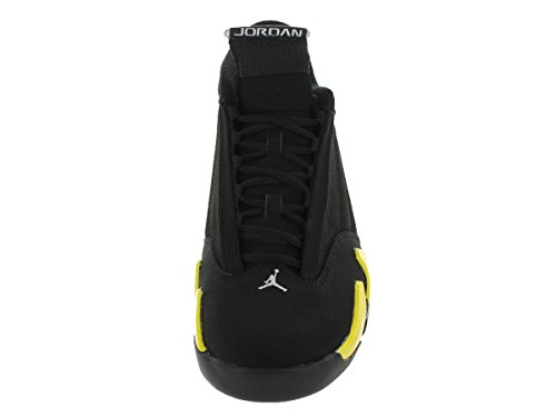 Nike Air Jordan 14 Retro, Chaussures de Sport Homme Multicolore - Negro / Amarillo / Blanco (Black / Vibrant Yellow-White)