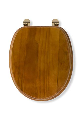 Antike Massivholz (Croydex Toilettensitz aus Massivholz, antike Pinie)