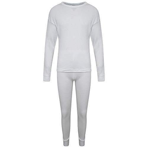 KidCollection Kinder Thermounterwäsche-Set - langärmliges Oberteil und passende Hose, für den Winter - Unisex für Jungen und Mädchen - Alter 2 bis 13 Jahre Gr. 9-11 Jahre, Multi