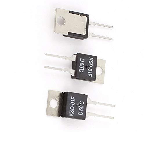 Aexit 3 Pcs KSD-01F 60 Celsius Normal Cierre Interruptor (model: Z2438XIII-8128AE) de...