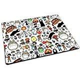 Studio Ghibli Doodle Motif Tapis de souris en caoutchouc Tapis de souris de jeu geek Anime Totoro
