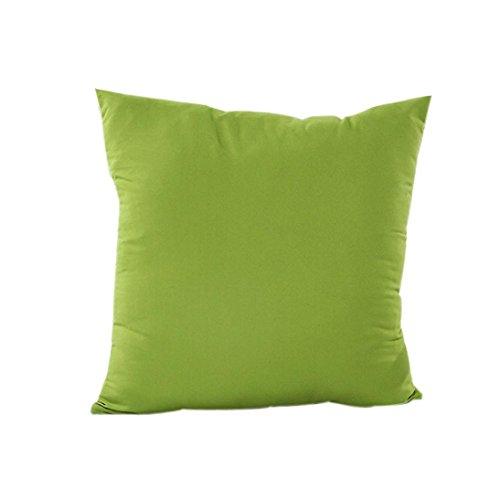 Taies d'oreillers, IMJONO Décoration de maison Housse d'oreiller Coton Drap housse de coussin en lin (45 x 45cm, Vert)