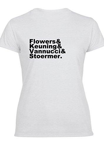 Flowers Keuning Vannucci Stoermer The Killers Damen T-Shirt & Weste T-Shirt (Entwurf auf der Rückseite)
