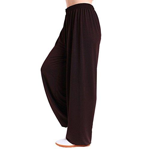 MESHIKAIER Super weiche Herren Haremshose Freizeithose Pluderhose Pumphose Yoga Hose Sport Hose für 4 Jahreszeiten (Size XXL, Kaffee)