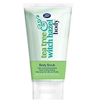 Boots Teebaum & Zaubernuss Körperpeeling 200ml / Boots Tea Tree & Witch Hazel Body Scrub 200ml